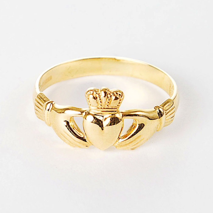 9ct Gold Claddagh Ring - Moriartys - 64.9KB