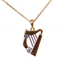 Gold-Harp-Pendant