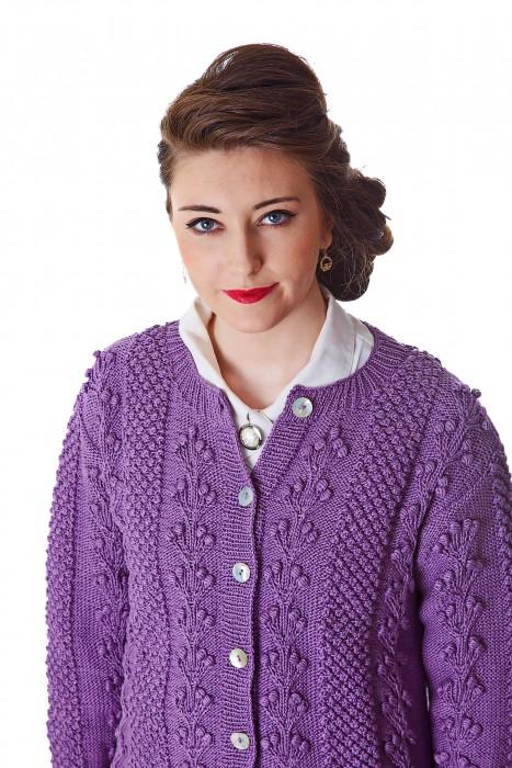 Deirdre McGuire Handknit Cardigan Lavender