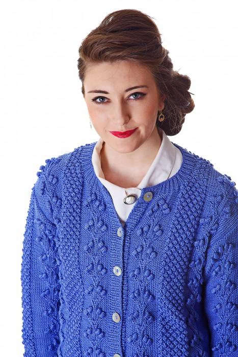 Deirdre McGuire Handknit Cardigan Blue