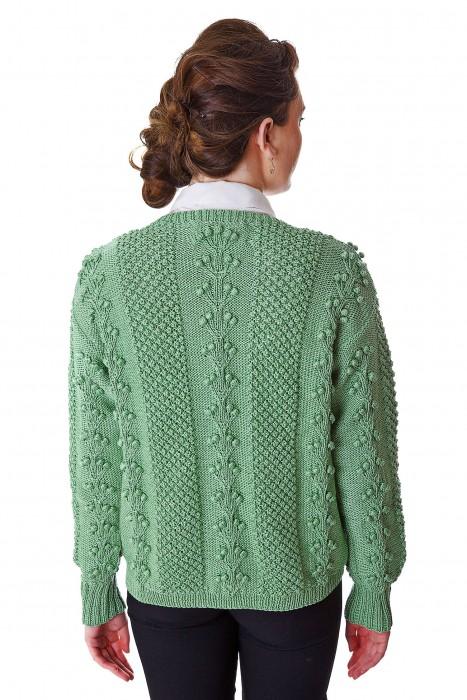 Deirdre McGuire Handknit Cardigan Green