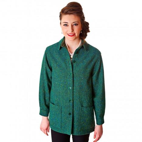 Ladies Shirt Jacket Teal