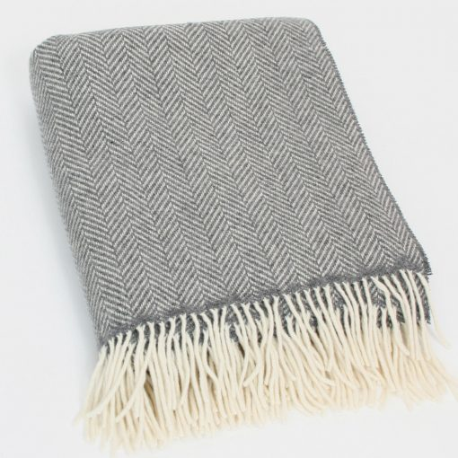 Merino Cashmere Throw 1474 Grey