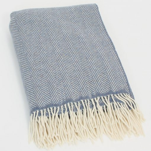 Merino Cashmere Throw 1476 Blue