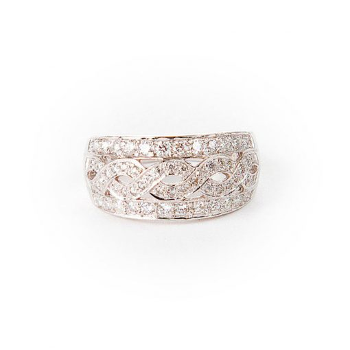 White Gold Diamond Celtic Knot Ring