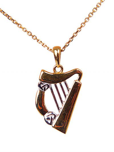 Gold Harp Pendant