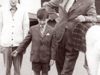 From left: Con, Michael Jnr and Michael Snr Moriarty at the Gap in 1974.