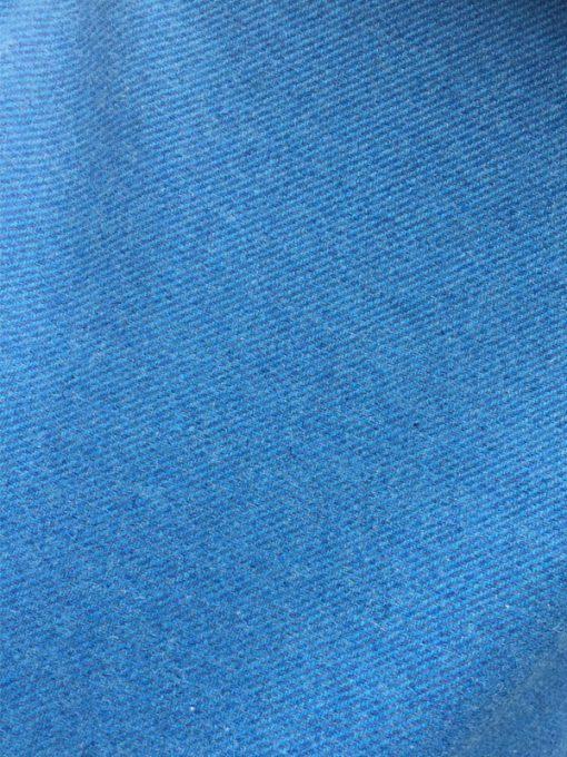Button Neck Poncho blue