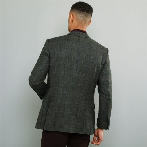 Magee green herringbone Sports Jacket