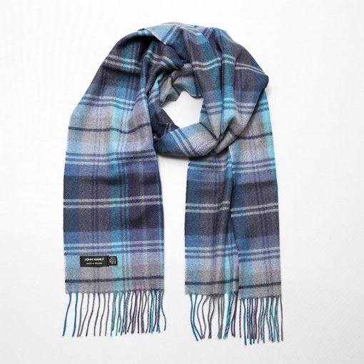 grey blue scarf