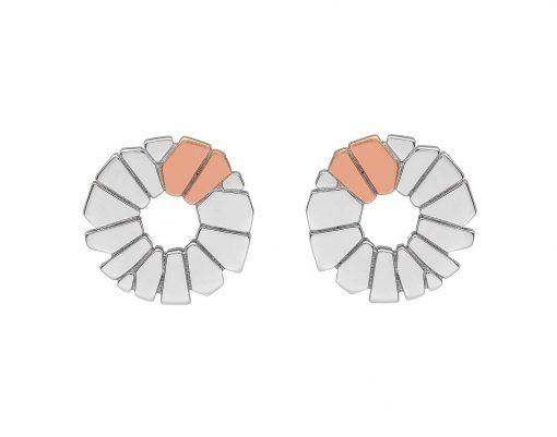 stud earring rose gold silver