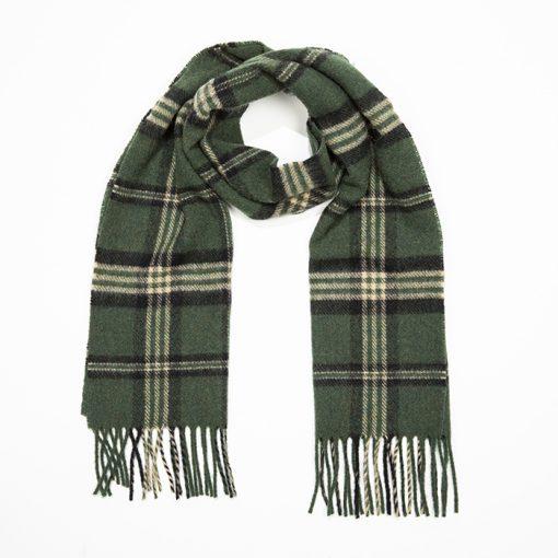 lambswool scarf green