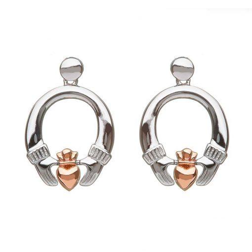 claddagh drop earrings