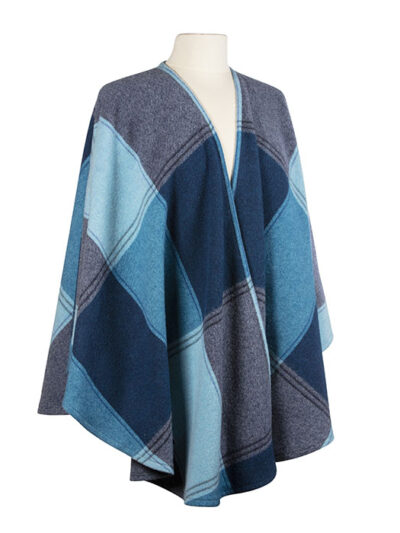 blue navy wool cape wrap ladies