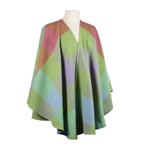 wool wrap ladies pink green purple