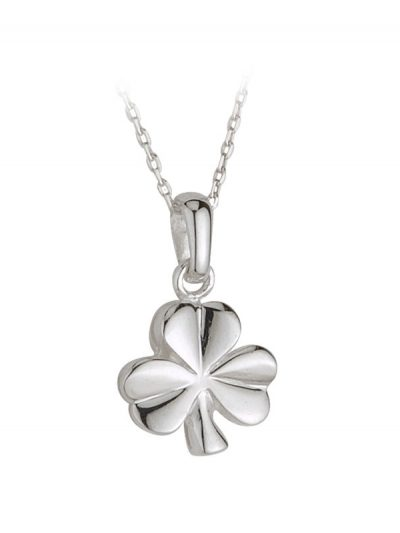 Sterling Silver Shamrock Pendant on Chain
