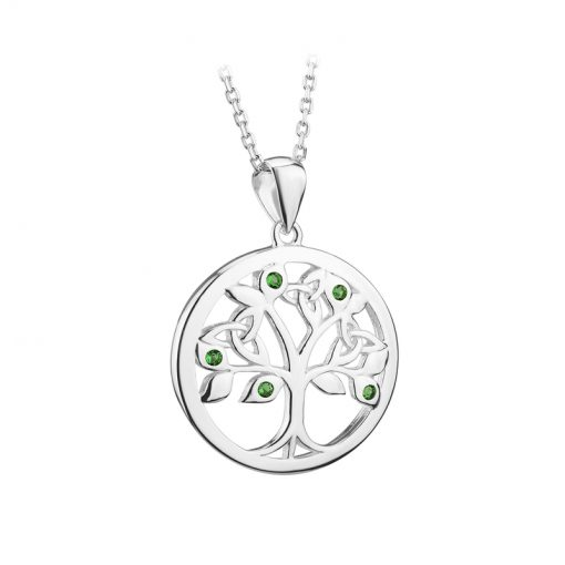 sterling silver tree of life pendant on chain