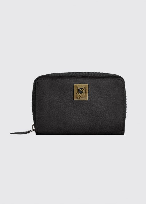 ladies black leather dubarry wallet
