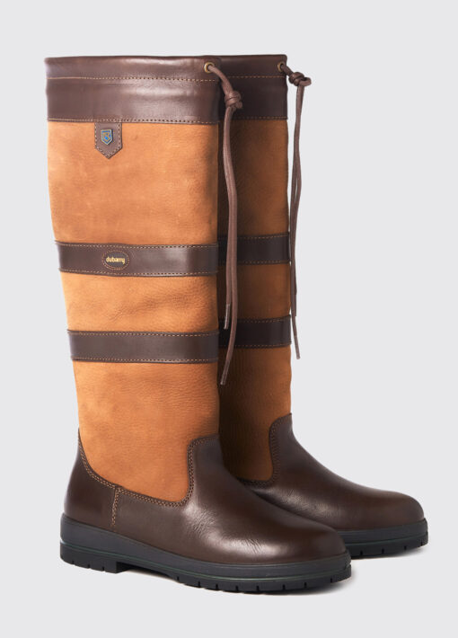 brown leather dubarry county boots