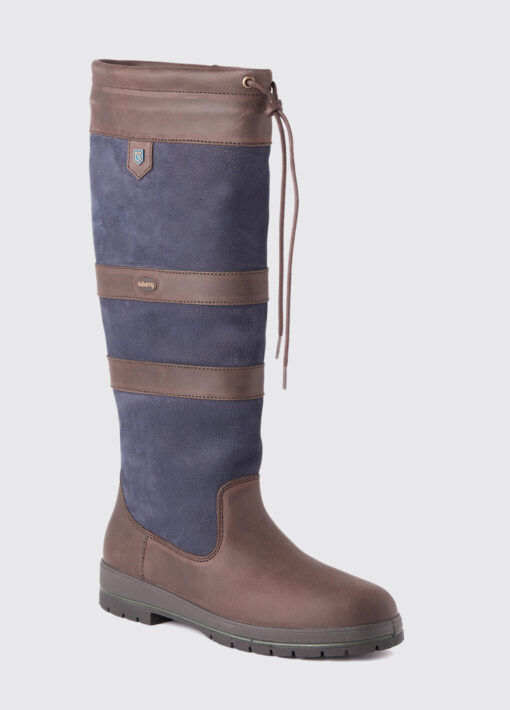 navy brown dubarry boot