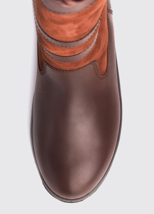 walnut leather dubarry country boot toe
