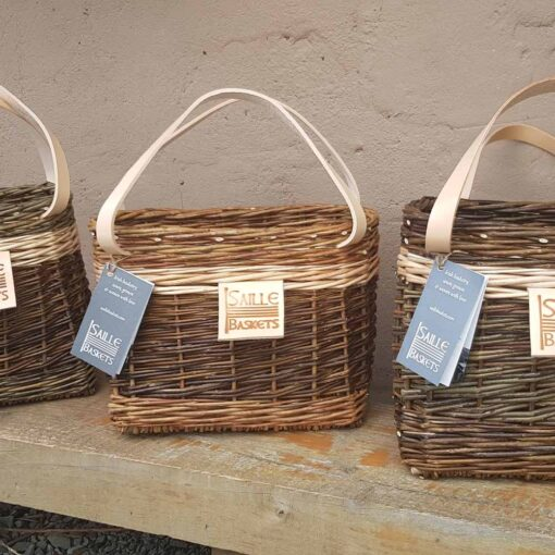 small handwoven lunch basket