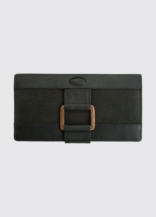 ladies leather wallet black