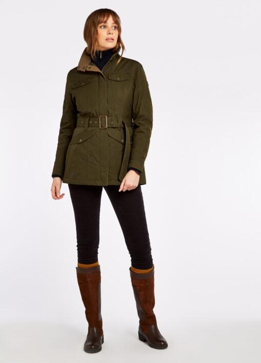 green waterproof dubarry jacket