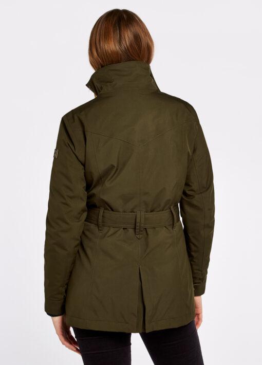 green dubarry utility jacket back