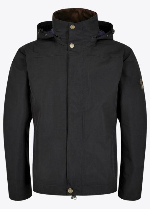 mens dubarry rain jacket black