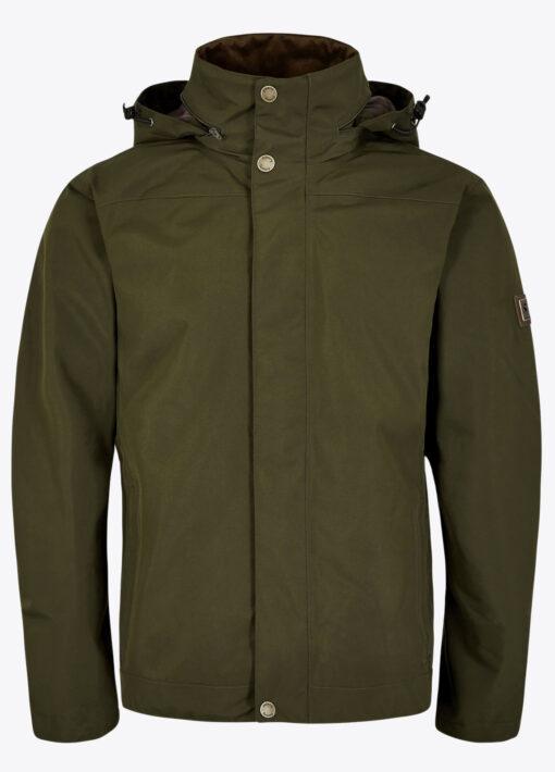 mens dubarry rain jacket olive green