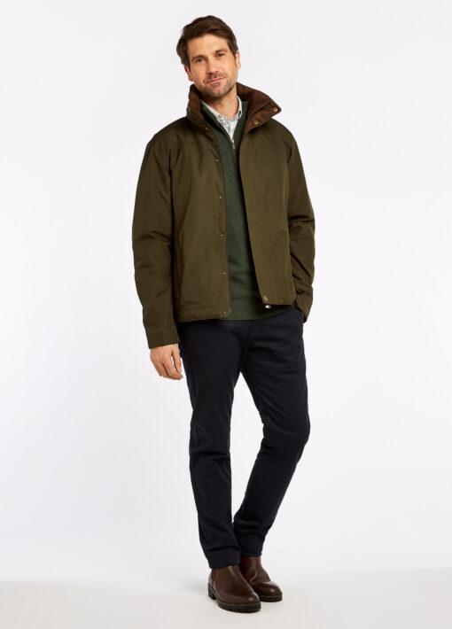 mens dubarry rain jacket green
