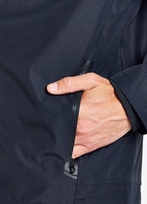 dubarry mens rain jacket pocket navy