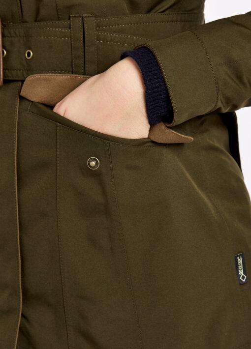 green dubarry utility jacket pocket