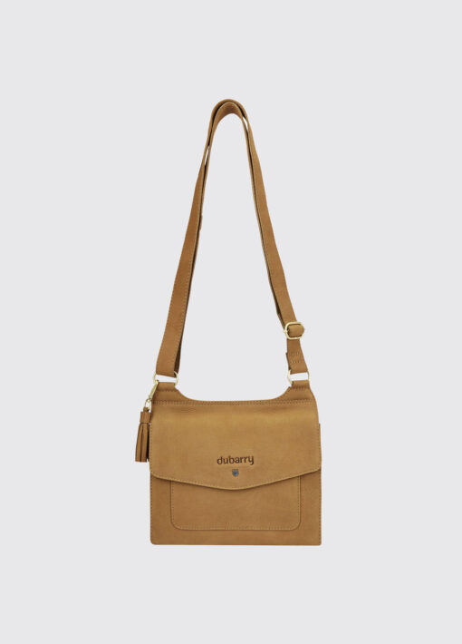 caramel messenger bag