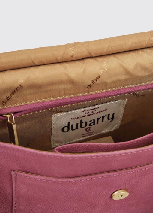 inside pink messenger bag