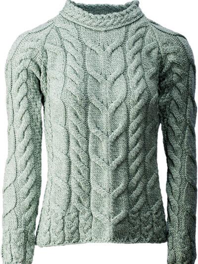light green merino sweater front