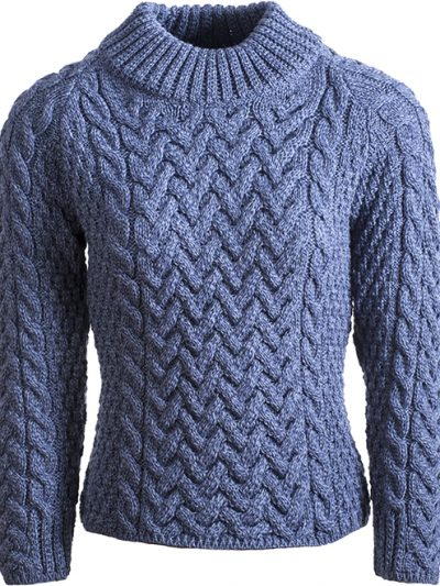 Featuring bold cable stitching, a statement ribbed crew neck and crafted from super soft merino wool. Its ready-to-wear design & practical style makes it a terrific garment to wear all year round, whatever the season.