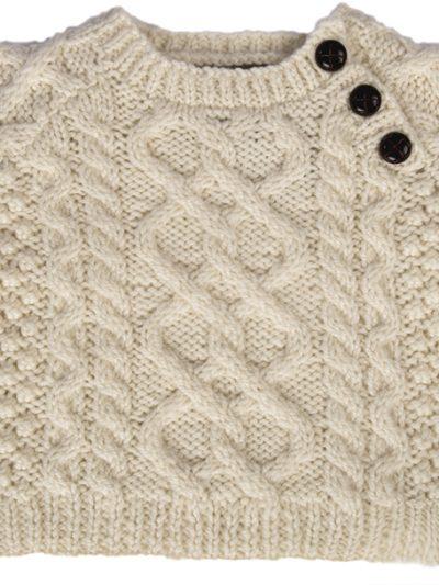 Baby's Handknit Side Fastening Sweater by Carraig Donn