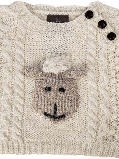 Aran Baby Sheep Crew Neck Sweater