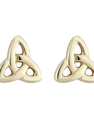 14k Gold Trinity Knot Stud Earrings