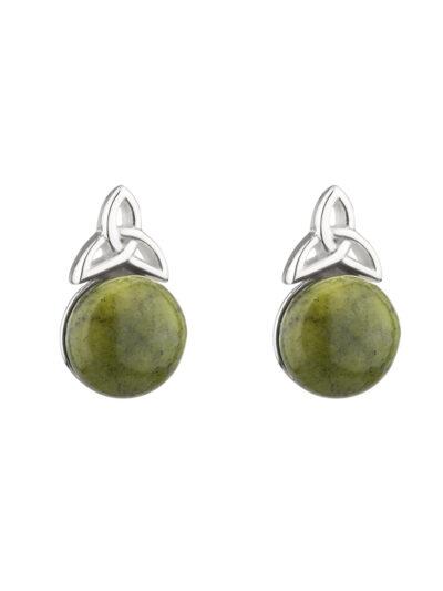 Sterling Silver Marble Trinity Knot Stud Earrings