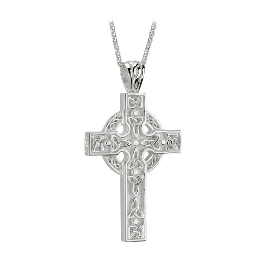 Sterling Silver Heavy Celtic Cross Pendant