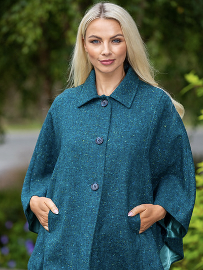 poncho with three buttons