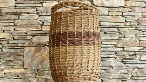 laundry basket handwoven
